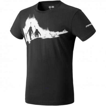 Koszulka DYNAFIT GRAPHIC COTTON S/S TEE MEN Black Out Ascent   SKLEP NARTY WARSZAWA